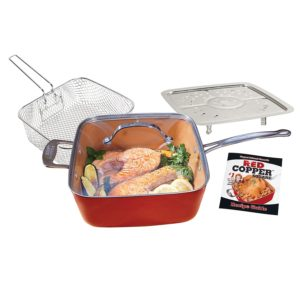 BulbHead 11198 Red Copper Square Pan